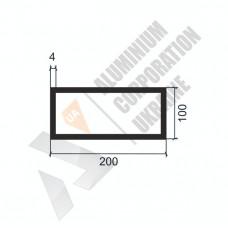 Алюминиевая труба прямоугольная <br> 200х100х4 - БП 00515 1