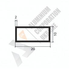 Алюминиевая труба прямоугольная <br> 20х10х2 - БП БПЗ-0451-86 1