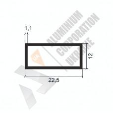 Алюминиевая труба прямоугольная <br> 22,5х12х1,1 - АН АК-1125-121 1