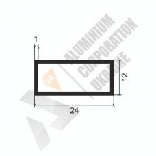Алюминиевая труба прямоугольная <br> 24х12х1 - АН АК-1127-127 1