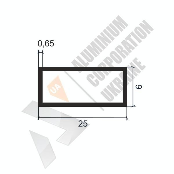 Алюминиевая труба прямоугольная | 25х6х0,65 - АН 06-0069