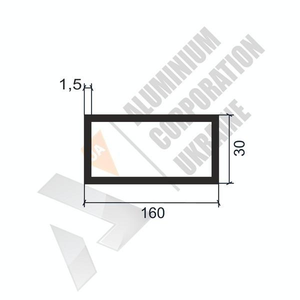Алюминиевая труба прямоугольная | 20х13х1,5 - БП 5897-102