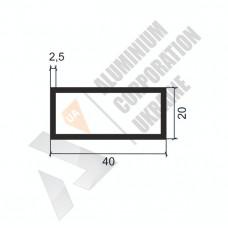 Алюминиевая труба прямоугольная <br> 40х20х2,5 - АН МАК-9999-78-434 1