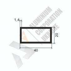 Алюминиевая труба прямоугольная <br> 40х20х1,4 - БП SX-WM1491-398 1