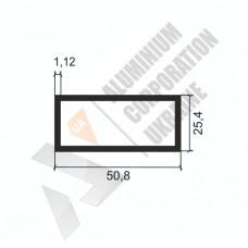 Алюминиевая труба прямоугольная <br> 50,8х25,4х1,12 - БП SX-WM2228-671 1