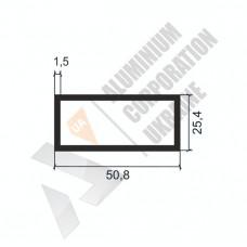 Алюминиевая труба прямоугольная <br> 50,8х25,4х1,5 - АН SX-WM701-672 1