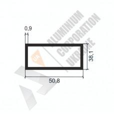 Алюминиевая труба прямоугольная <br> 50,8х38,1х0,9 - АН АК-1188-676 1