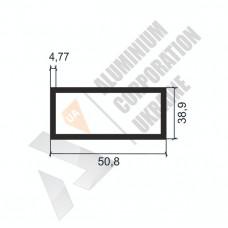 Алюминиевая труба прямоугольная <br> 50,8х38,9х4,77 - АН АК-1189-678 1