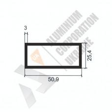 Алюминиевая труба прямоугольная <br> 50,9х25,4х3 - АН АК-1192-686 1