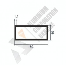 Алюминиевая труба прямоугольная <br> 50х40х1,1 - АН АК-1180-634 1