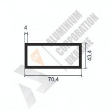 Алюминиевая труба прямоугольная <br> 70,4х43,4х4 - АН ПЗ-82-894 1