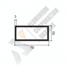 Алюминиевая труба прямоугольная <br> 70х50х3 - БП АК-1216-893 1