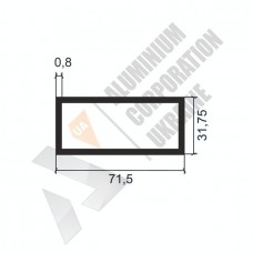 Алюминиевая труба прямоугольная <br> 71,5х31,75х0,8 - АН SX-WM2242-900 1