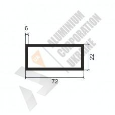 Алюминиевая труба прямоугольная <br> 72х22х6 - АН БПЗ-1806-902 1