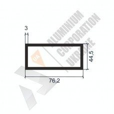 Алюминиевая труба прямоугольная <br> 76,2х44,5х3 - АН АК-1235-980 1