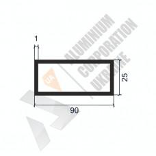 Алюминиевая труба прямоугольная <br> 90х25х1 - АН АК-1266-1207 1
