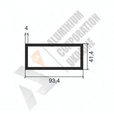 Алюминиевая труба прямоугольная <br> 93,4х41,4х4 - АН ПЗ-83-1235 1