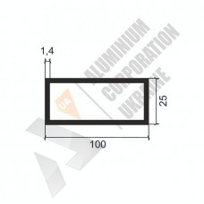 Алюминиевая труба прямоугольная <br> 100х25х1,4 - АН SX-MFH01-1279 1