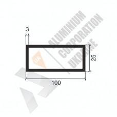 Алюминиевая труба прямоугольная <br> 100х25х3 - АН Б-0293-1293 1