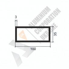 Алюминиевая труба прямоугольная <br> 100х35х3 - АН АК-1287-1305 1