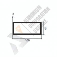 Алюминиевая труба прямоугольная <br> 100х44х3 - АН SX-100x44-1347 1