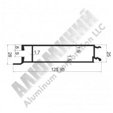 Алюминиевый Бортовой профиль № 4976 - планка нижняя - 100 мм - АН 00390 1
