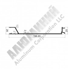 Алюминиевый Бортовой профиль № 4977 - планка средняя под петлю - АН 00236 1