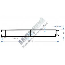 Бортовой профиль № 51004 - нижняя планка - 200 мм - АН 00234 1