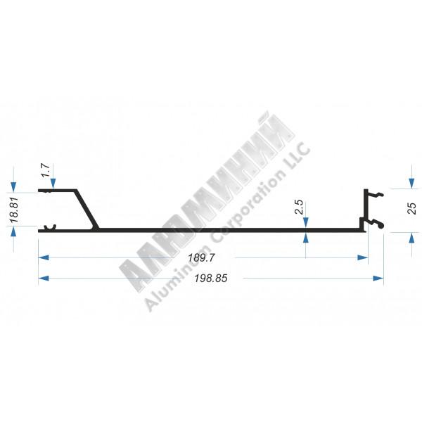 Бортовой профиль - планка средняя под петлю