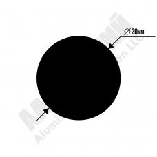 Алюминиевый пруток 20мм 80 1