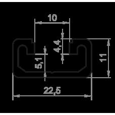 Станочный профиль <br> 22,5х11 - АН 00553 1
