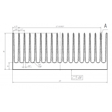 Алюминиевый профиль радиаторный <br> 220х85 - БП 53-0001 1