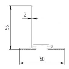 Направляющая для салазки  PRSL1 1