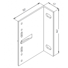 Алюминиевый кронштейн самозажимной 100х140х40 несущий  00424 1
