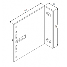 Алюминиевый кронштейн самозажимной <br> 140х140х40 несущий KR140L 1