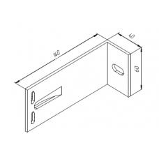 Алюминиевый кронштейн самозажимной <br> 140х60х40 опорный 00425 1