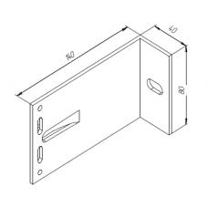 Алюминиевый кронштейн самозажимной <br> 140х80х40 универсал KR140M 1