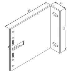 Алюминиевый кронштейн самозажимной <br> 160х140х40 несущий KR160L 1