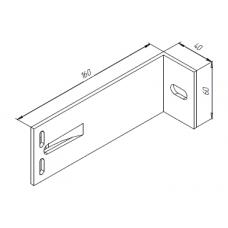 Алюминиевый кронштейн самозажимной <br> 160х60х40 опорный KR160S 1