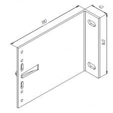 Алюминиевый кронштейн самозажимной <br> 180х140х40 несущий KR180L 1