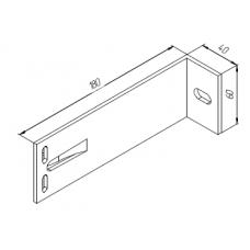 Алюминиевый кронштейн самозажимной 180х60х40 опорный 00431 1