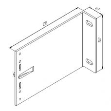 Алюминиевый кронштейн самозажимной <br> 210х140х40 несущий KR210L 1