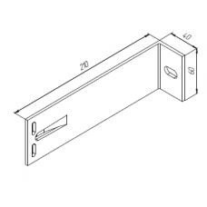 Алюминиевый кронштейн самозажимной <br> 210х60х40 опорный KR210S 1