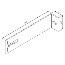 Алюминиевый кронштейн самозажимной <br> 240х60х40 опорный KR240S 1