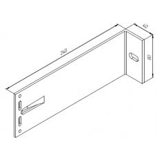 Алюминиевый кронштейн самозажимной 240х80х40 универсал 00440 1