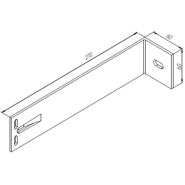 Алюминиевый кронштейн самозажимной | 270х60х60 опорный KR270S