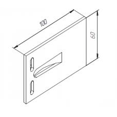 Алюминиевый удлинитель кронштейна 100х60 опорный 00445 1