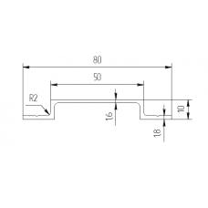Алюминиевый профиль омега  50х80х10 - БП 00416 1