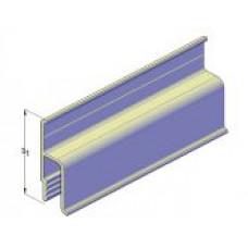 Профиль для натяжного потолка пристенный стандартный (h-ка) 0,160кг/мп 80-0001 1