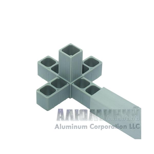 Соединитель пластиковый «5-сторонний» для квадратной трубы 30 х 30 х 2мм 88888